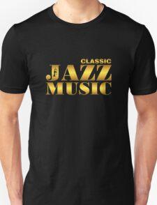 Vintage classic jazz gold T-Shirt