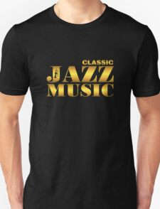 Vintage classic jazz gold T-Shirt