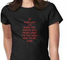Take off and Nuke it Womens Fitted T-Shirt