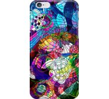 Colorful Abstract Swirls And  Flowers Collage iPhone Case/Skin