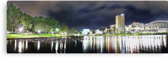 Adelaide City Lights Panorama by Shannon Rogers