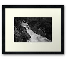 With a rush Framed Print