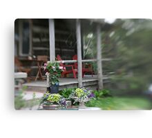 Little Red Chairs Metal Print