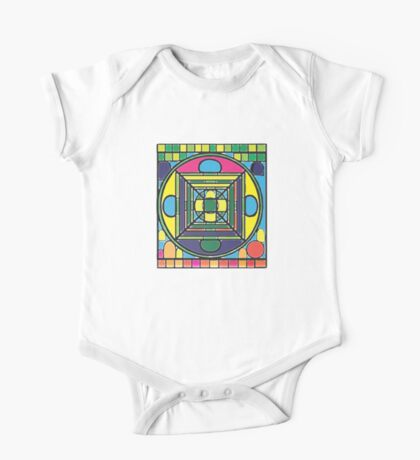 Larravide Stained Glass Mandala  One Piece - Short Sleeve
