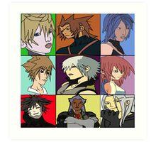 The Heros and Villians of Kingdom Hearts Art Print