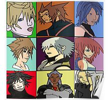 The Heros and Villians of Kingdom Hearts Poster