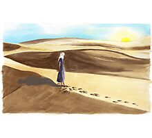Tato on Sunrise at El Sahara Dessert Photographic Print