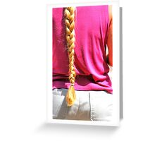 Blond ponytail. Greeting Card