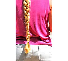 Blond ponytail. Photographic Print