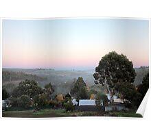 Sunrise in Bridgetown, Western Australia Poster