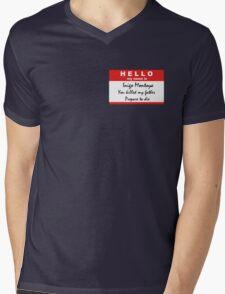 Hello, my name is Inigo Montoya Mens V-Neck T-Shirt