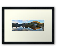 Dove Lake Boat Shed, Cradle Mountain, Australia Framed Print