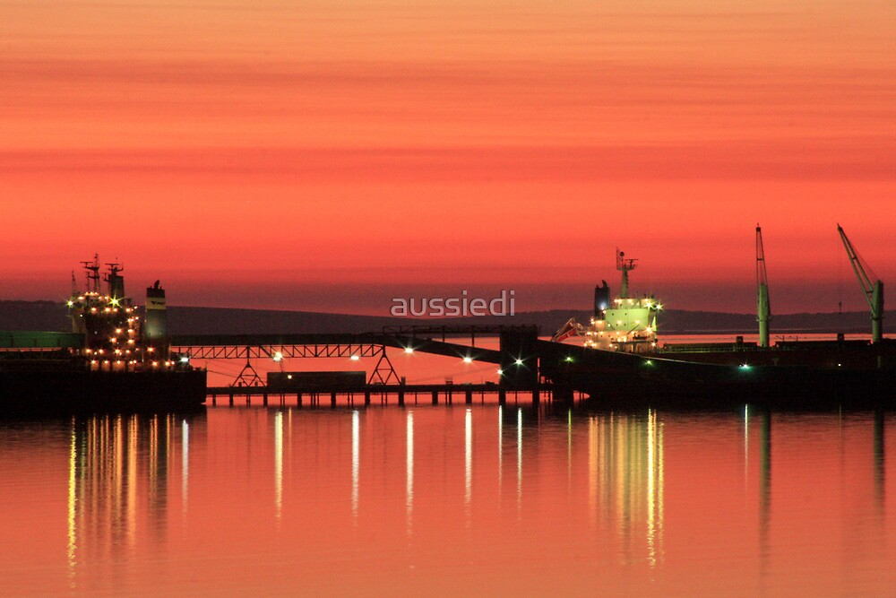 Sunrise over Boston Bay, Australia by aussiedi