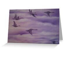 Flying Birds Greeting Card