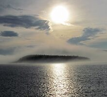 Fog over the Harbour - Marathon Ontario Canada by loralea