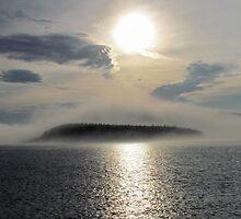 Fog over the Harbour - Marathon Ontario Canada by loralea