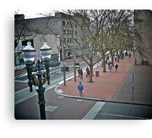 The Original Restaurant - Looking Up SW 6th  - Portland, Oregon Canvas Print