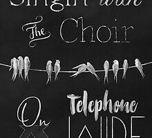 Singing Birds on a Wire chalkboard art by Glimmersmith