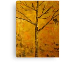 Birds In Sunset Canvas Print