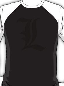 Death Note: L (Black) T-Shirt