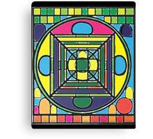 Larravide Stained Glass Mandala  Canvas Print
