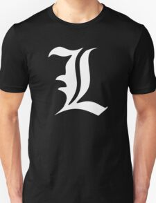 Death Note: L (White) T-Shirt