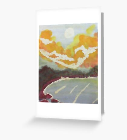 The Cove #2 at sunset, watercolor Greeting Card