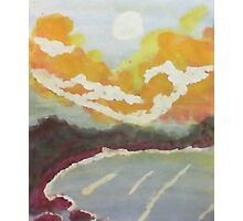 The Cove #2 at sunset, watercolor Photographic Print