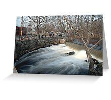 Faulkner Mills Waterfall III Greeting Card