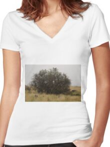 Where the suburbs end #4 Women's Fitted V-Neck T-Shirt