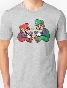 mario and luigi pixel Unisex T-Shirt