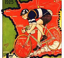 Vintage French bicycle race sport poster art by Glimmersmith