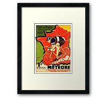 Vintage French bicycle race advert Framed Print