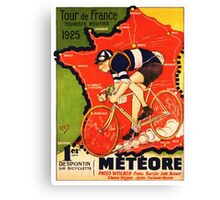 Vintage French bicycle race sport poster art Canvas Print