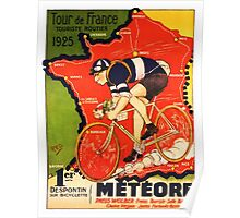 Vintage French bicycle race advert Poster