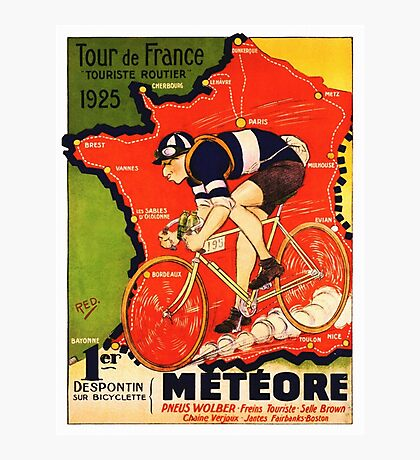 Vintage French bicycle race advert Photographic Print