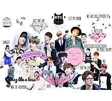 BTS/Bangtan Sonyeondan - Collage Photographic Print