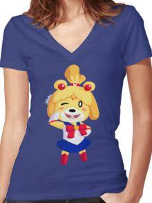 Sailor Bell Women's Fitted V-Neck T-Shirt