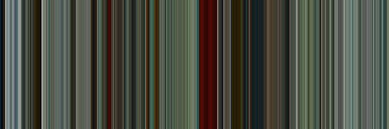 Moviebarcode: The American (2010) [Simplified Colors] by moviebarcode