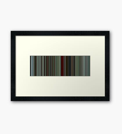 Moviebarcode: The American (2010) [Simplified Colors] Framed Print