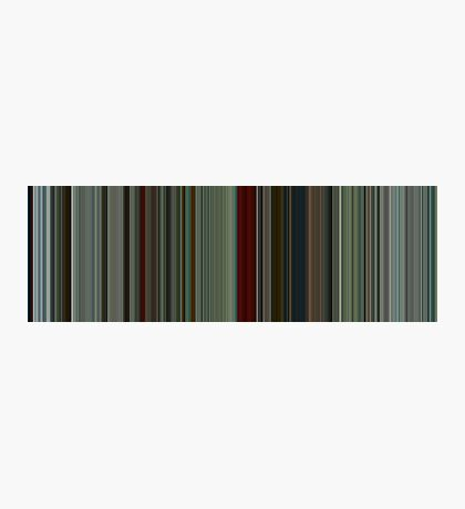 Moviebarcode: The American (2010) [Simplified Colors] Photographic Print