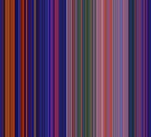 Moviebarcode: Aladdin (1992) [Simplified Colors] by moviebarcode