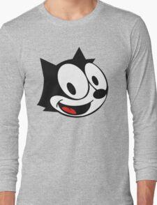 smiling felix the cat Long Sleeve T-Shirt