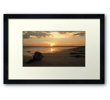 Sun Set Wide Screen Framed Print