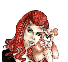 DevilGirl with Teddy by ArtOfJamesAdams