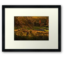 The Hill End woodchopper Framed Print
