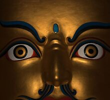 open eyes. padmasambhava statue, northern india by tim buckley | bodhiimages