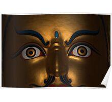 open eyes. padmasambhava statue, northern india Poster