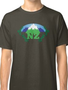 NEW ZEALAND map with NZ awesome design Classic T-Shirt