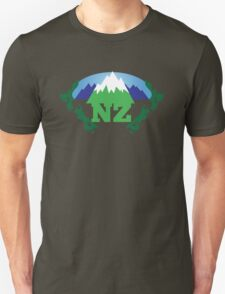 NEW ZEALAND map with NZ awesome design T-Shirt